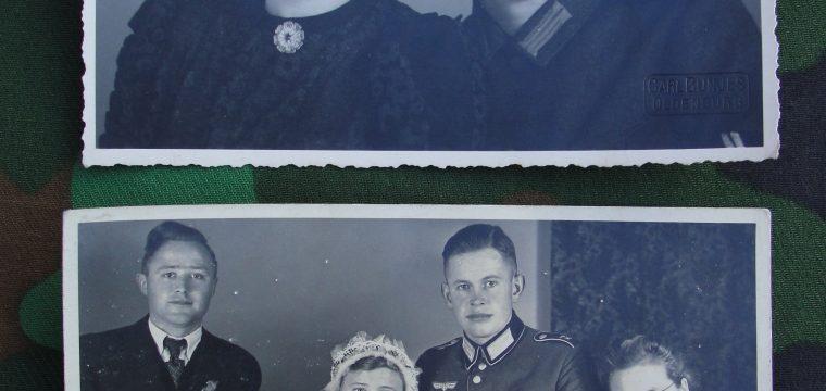 2 fotokaarten van Wehrmacht militair