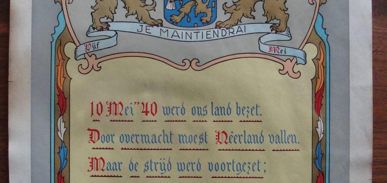 Bevrijdingsposter Leeuwarden 1945 Nederland herrijst