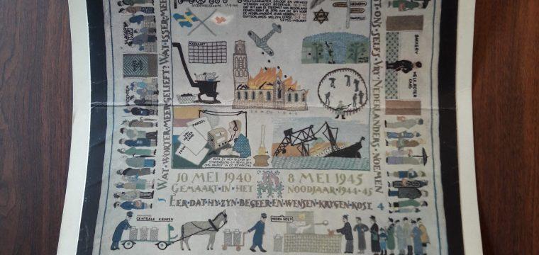 Poster met diverse plaatjes uit de oorlogsjaren