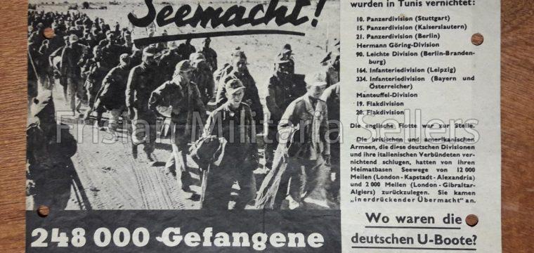 Vlugschrift : G.33 Seemacht ! 248.000 Gefangene