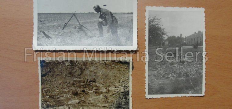 3 kleinbeeld foto s : graven van gesneuvelde Franse soldaten