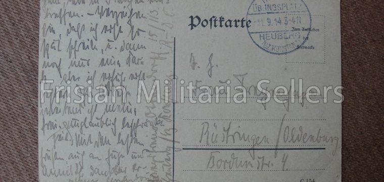 Duitse feldpostkaart uit 1914 Trüppen übungsplatz Heuberg
