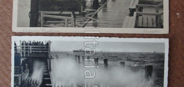 2 x postkaart Nordseebad Cuxhaven Aufname von Photo Thode, Cuxhaven