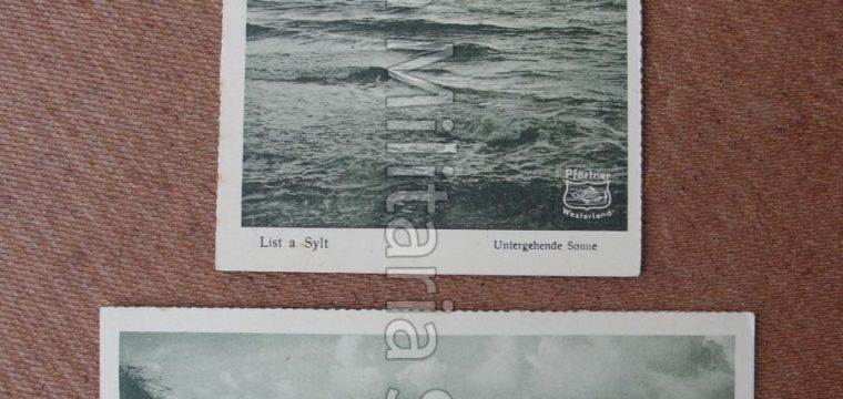 3 x Duitse postkaart ca. 1925 Ferinand Pförtner, Westerland/Sylt