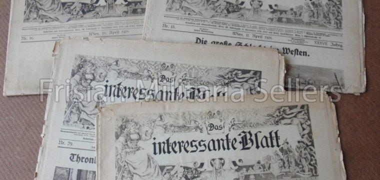 Lot kranten Das Interessante Blatt 1918