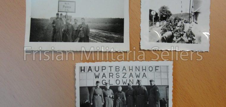 3 x foto Polen/Duitse soldaten/Grens