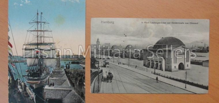 2 tal Deutscher Reich postkaarten, Hamburg