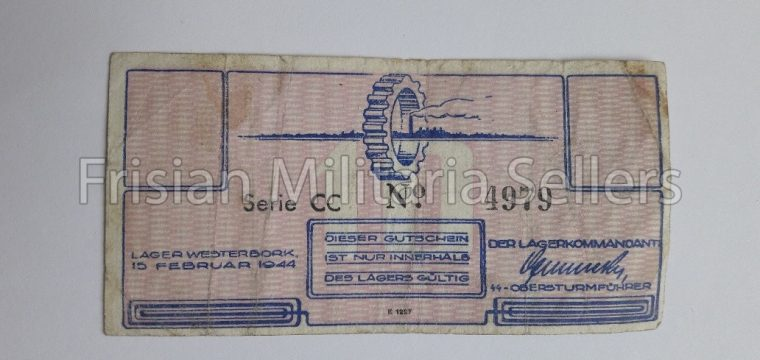 DUTCH LAGER WESTERBORK MONEY 10 cent, very hard to find – Durchgangslager, Konzentrationslager
