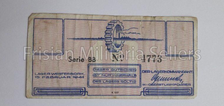 DUTCH LAGER WESTERBORK MONEY 10 cent, very hard to find – Durchgangslager, Konzentrationslager