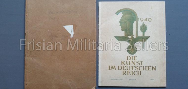 Die kunst im Deutschen reich – April 1940 – Zentalverslag der N.S.D.A.P., Franz Eher nachf., München