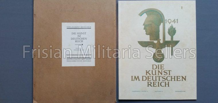 Die kunst im Deutschen reich – Dezember 1941 – Zentalverslag der N.S.D.A.P., Franz Eher nachf., München