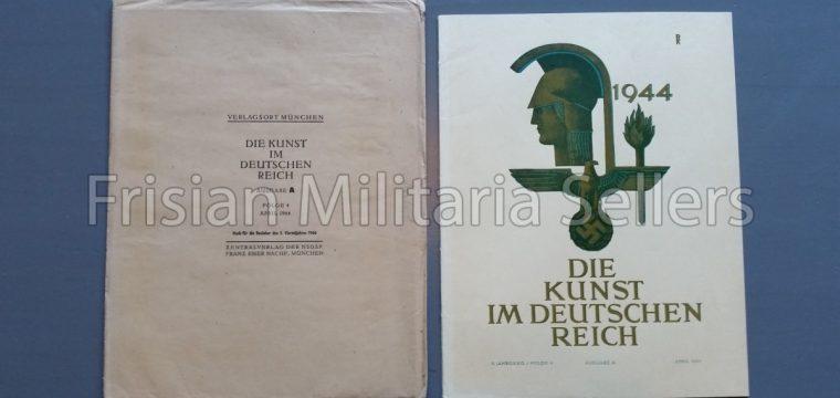 Die kunst im Deutschen reich – April 1944 – Zentalverslag der N.S.D.A.P., Franz Eher nachf., München