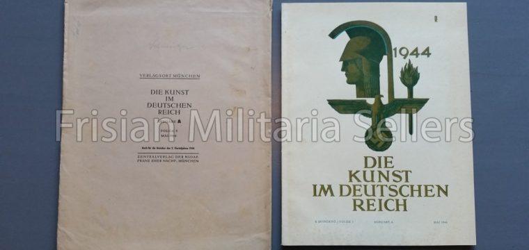 Die kunst im Deutschen reich – Mai 1944 – Zentalverslag der N.S.D.A.P., Franz Eher nachf., München