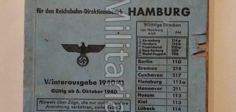 Amtlicher Taschenfahrplan Deutsche Reichsbahn – Direktionsbezirk Hamburg/winterausgabe 1940/41
