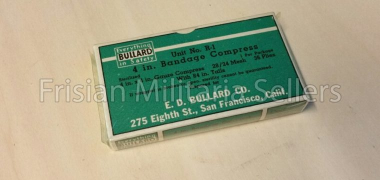 E.D. Bullard Co. Unit No. 2 – 4 In. Bandage Compress US WW2