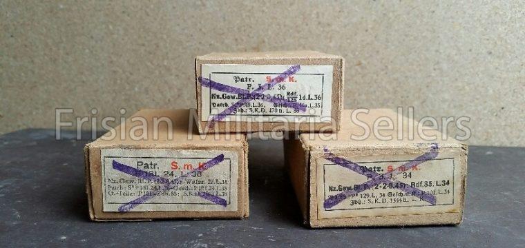 3 pcs K-98 Ammo boxes S.M.K.