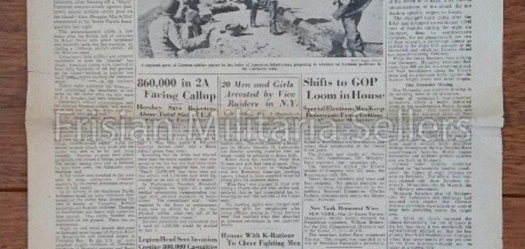 U.S. WW2 Newspaper : The stars and stripes