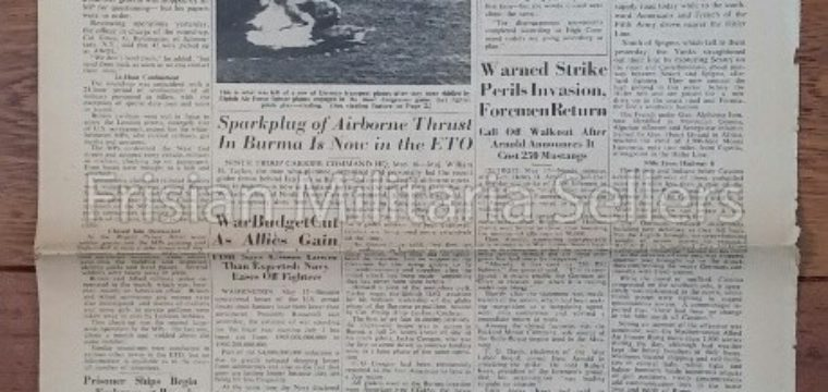 U.S. WW2 Newspaper : The stars and stripes