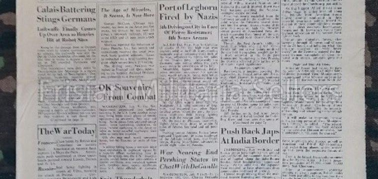 U.S. WW2 Newspaper : The stars and stripes 10 july 1944 Cean Falls ; Reds Battle in Vilna