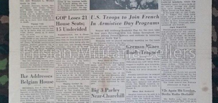 U.S. WW2 Newspaper : The stars and stripes 10. nov. 1944