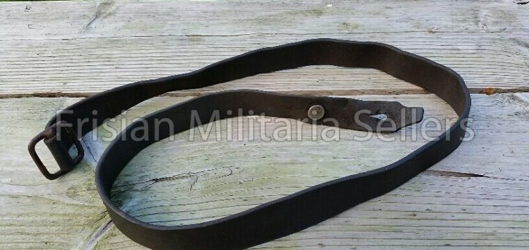 Dutch pré 1940 leather Hembrug rifle belt